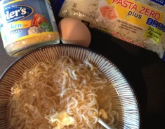 Egg drop Noodle soup